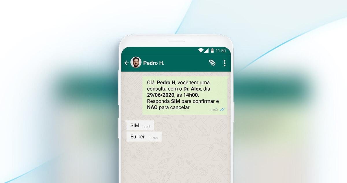 Lembretes de consulta por WhatsApp: reduza as faltas dos seus pacientes