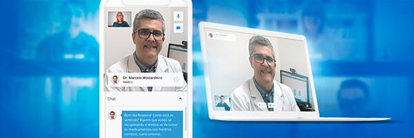 Dr. Marcelo Mostardeiro com a Teleconsulta iClinic