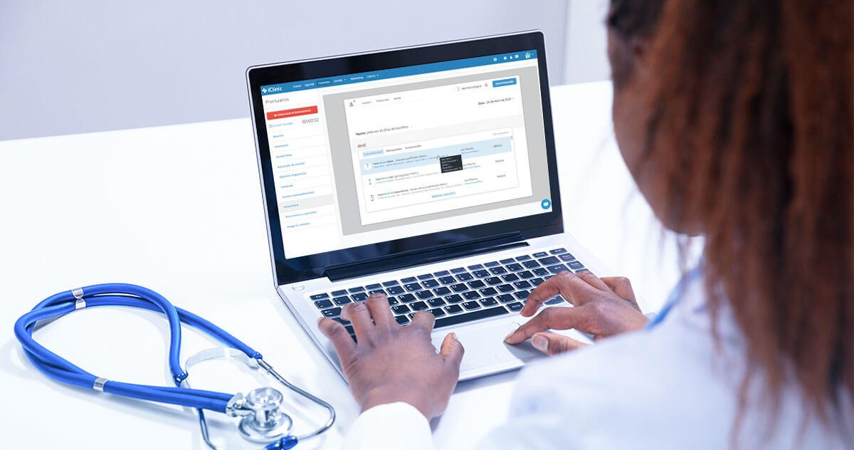 Prescrição eletrônica no atendimento médico