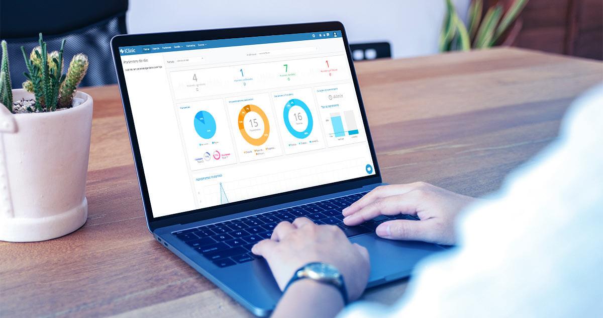 Analise os dados do seu consultório com o iClinic