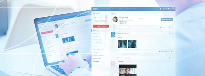 Prontuário eletrônico do iClinic na consulta oftalmológica do Dr. Germano Dalfito