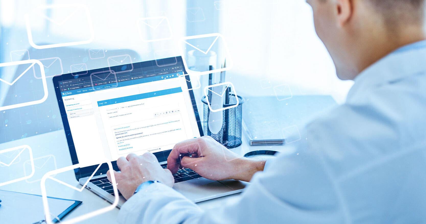 Biblioteca de e-mails do iClinic Marketing: como funciona?