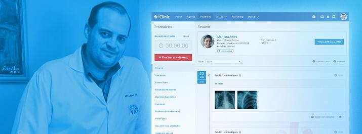Como o Dr. Junior Kurz atende mais pacientes com o iClinic