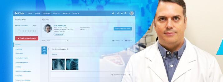 Dr. João Marcos Atique com domínio total das informações no iClinic