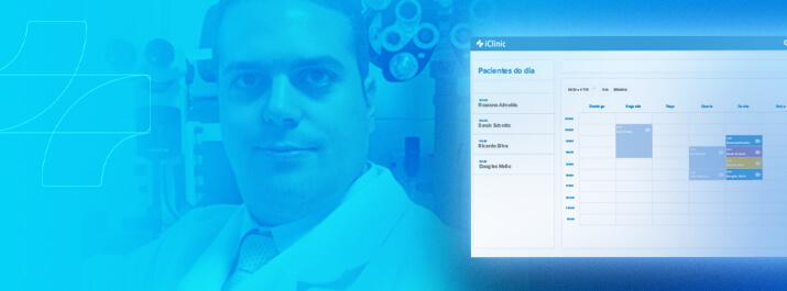 Dr. João Marcos Atique com software médico iClinic