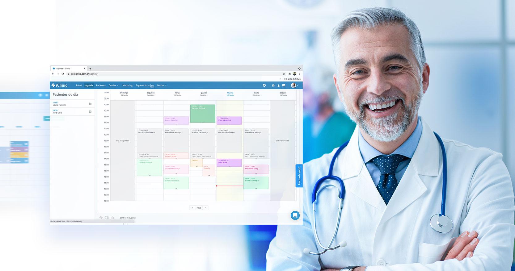 Qual é a importância da gestão de agenda na clínica?