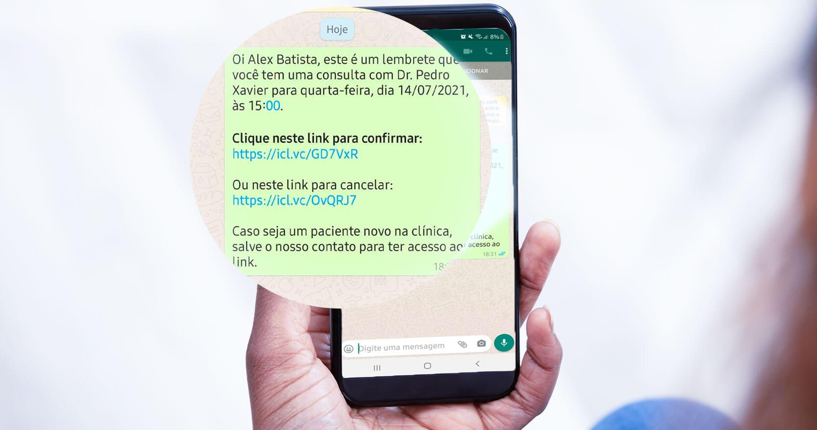 Lembretes de consulta por WhatsApp