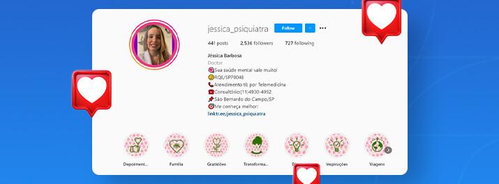 Instagram da Dra. Jéssica Barbosa Lima