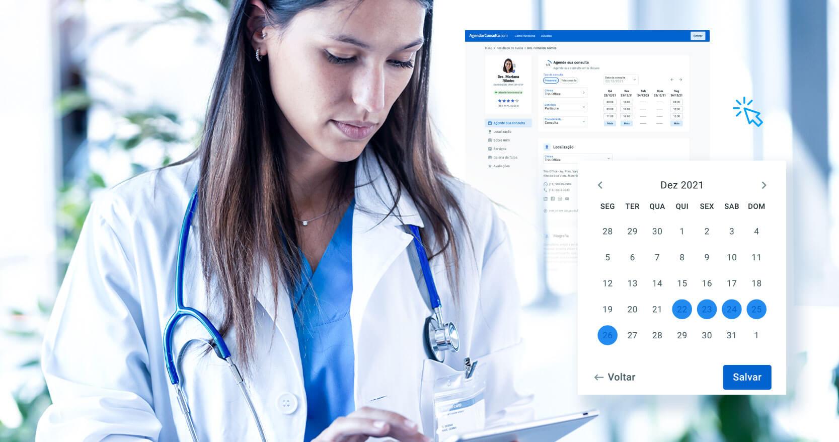 Aumente em até 80% a conversão do agendamento online com seu site médico