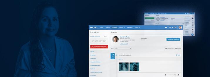 Dra. Ana Gandolfi com software médico iClinic
